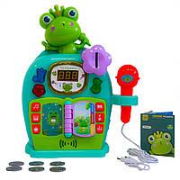 """Музыкальная игрушка """"Караоке Машина - Зеленая Лягушка"""", микрофон детский, караоке для детей (дитячий"""