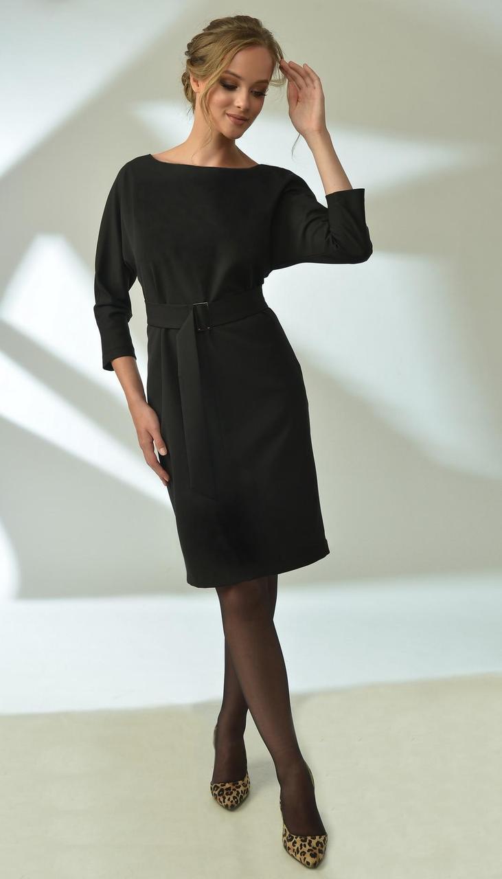 Платье MAX-4-019/1 белорусский трикотаж, черный, 42