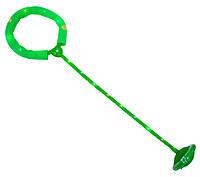 (GIPS), Скакалка з підсвіткою на одну ногу зелена, нейроскакалка з коліщатком з доставкою по Україні