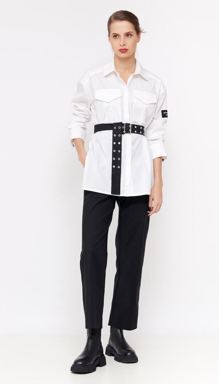 Рубашка Favorini-31162 белорусский трикотаж, белый, 42