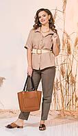 Рубашка INPOINT-015 белорусский трикотаж, песочный, 44, фото 1