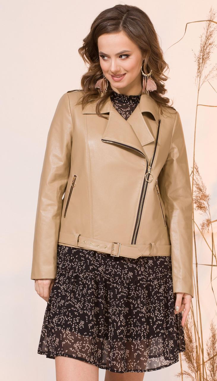 Куртка INPOINT-019 белорусский трикотаж, бежевый, 44