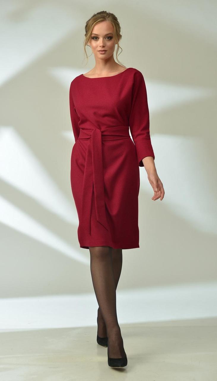 Платье MAX-4-018-1 белорусский трикотаж, красный, 42