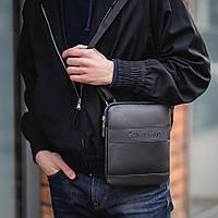 Стильная сумка через плечо, барсетка Calvin Klein, CK кельвин. Черная, фото 1