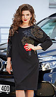 Сукня Vittoria Queen-11623 білоруський трикотаж, чорний, 52