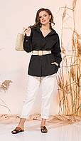 Комплект INPOINT-021-005/1 белорусский трикотаж, черный + молочный, 48