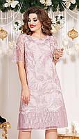 Сукня Vittoria Queen-13273 білоруський трикотаж, рожевий, 50, фото 1