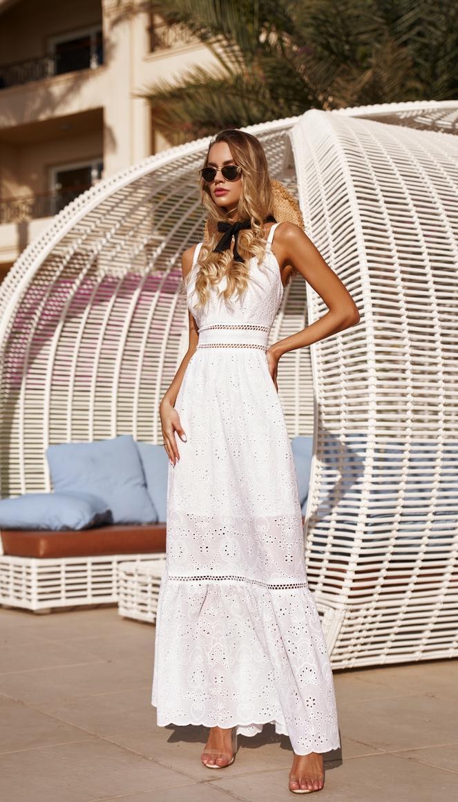 Платье Vesnaletto-2544 белорусский трикотаж, белый, 42