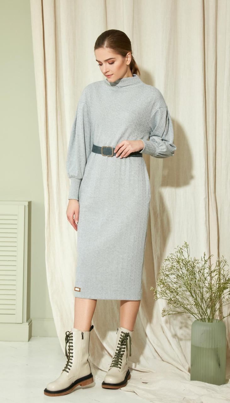 Платье Gizart-5086 белорусский трикотаж, серый, 44