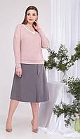 Комплект КаринаДелюкс-В-384С білоруський трикотаж, рожевий+сірий, 50, фото 1