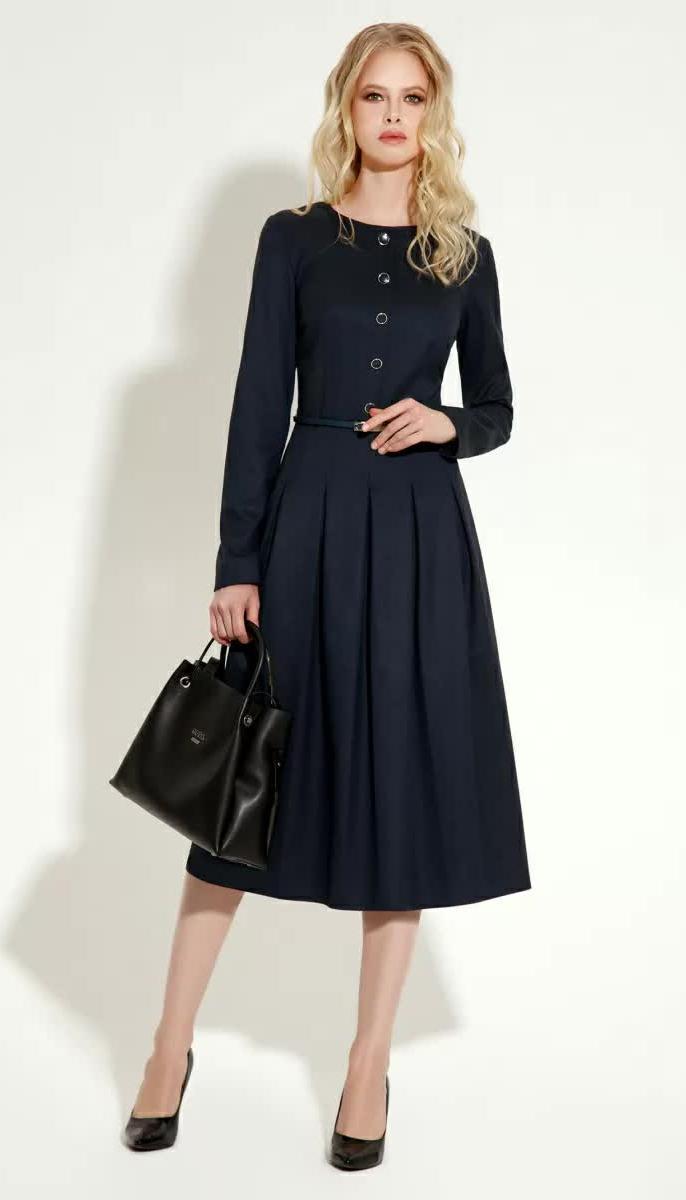 Платье Prio-11480z/1 белорусский трикотаж, синий, 42