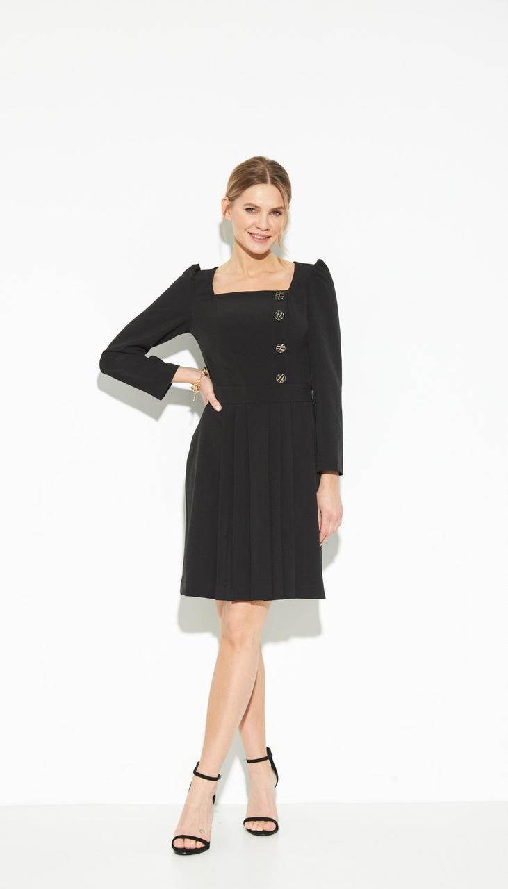 Платье LIBERTY-12 белорусский трикотаж, черный, 42