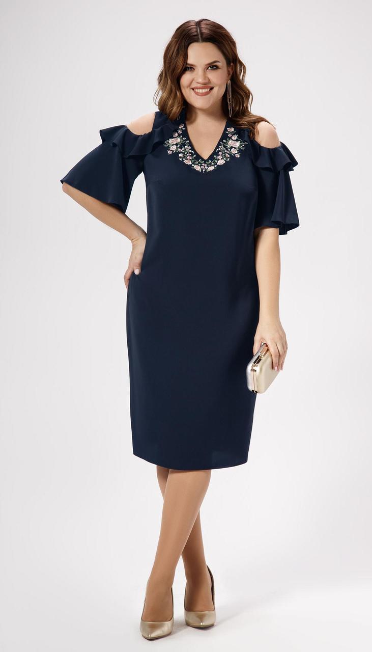 Платье Panda-469780 белорусский трикотаж, синий, 48