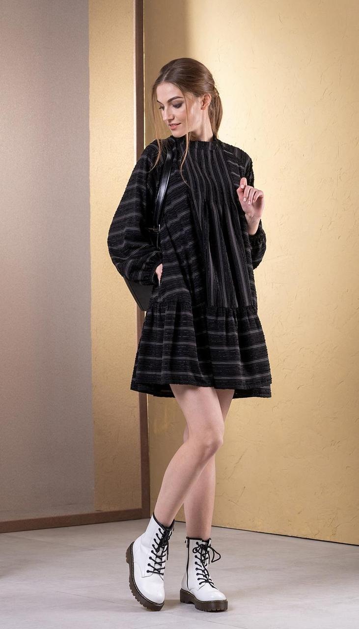 Платье Deesses-1073 белорусский трикотаж, черный, 44
