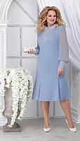 Платье Ninele-2280 белорусский трикотаж, голубой, 48