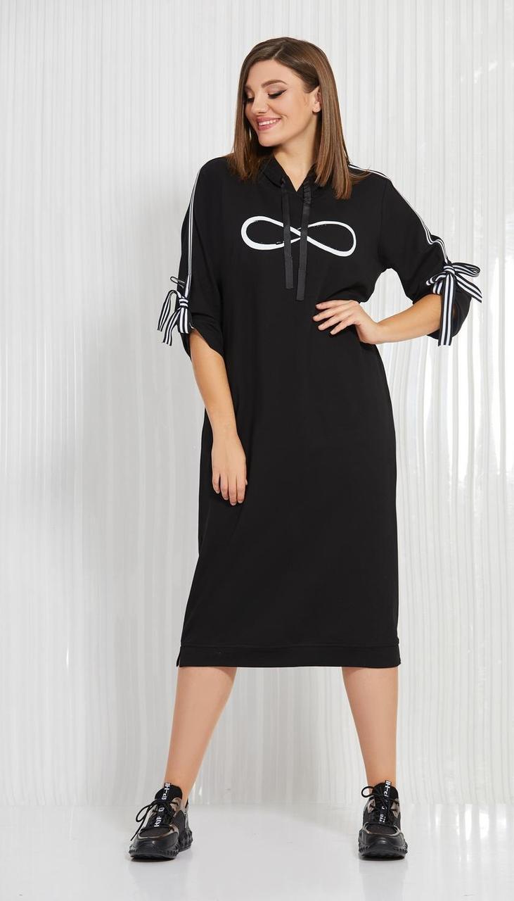 Платье AGATTI-3596 белорусский трикотаж, черный, 52