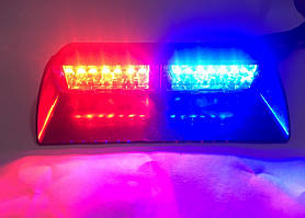 Проблисковий стробоскоп LED на лобове скло Biper RGB .багатобарвний сигнальний маячок для авто -12V