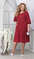 Платье Ninele-5822/1 белорусский трикотаж, красный, 48