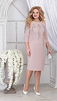 Платье Ninele-7310/3 белорусский трикотаж, пудра, 48