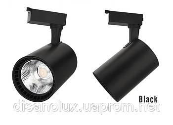 Світильник трековий світлодіодний на шинопровід MGD-B55 LED 30W 4100К чорний