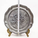 Старая оловянная тарелка, Олово, Германия, из старых, фото 4