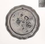 Старая оловянная тарелка, Олово, Германия, из старых, фото 6