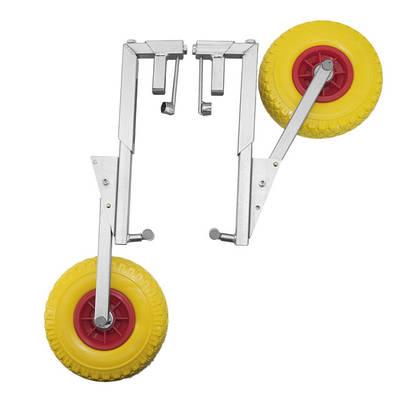Транцевые колеса на струбцинах (без сверления транца)