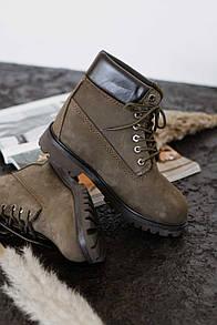 Женские ботинки Timberland Brown (Мех)