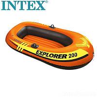Двомісний човен надувний Intex Explorer 200 без весел Intex 58330