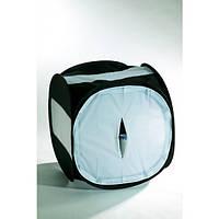 Лайт куб Mircopro LT-016 80х80х80см черный с белым фоном