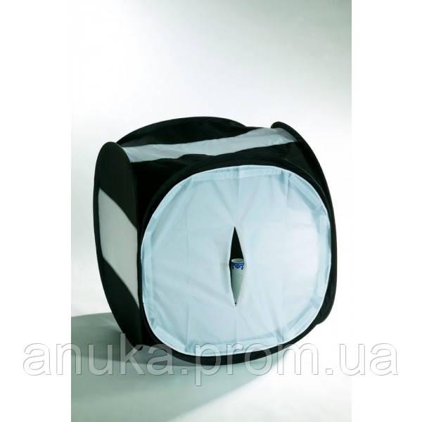 Лайт куб Mircopro LT-016 80х80х80см черный с белым фоном - Экшен Стайл и Анука™ в Днепре