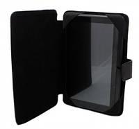 """Чехол книжка (обложка) для планшета Prestigio 3074 """"7"""" дюймов (черная кожа)."""