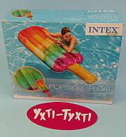 """Пляжный надувной матрас Intex, """"Фруктовое мороженое"""", серия Десерт, Intex Плотик, 191 х 76 см, 58766"""