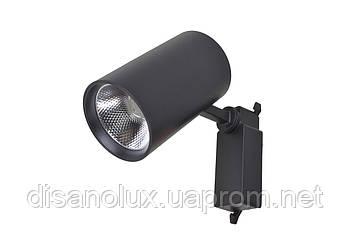 Світильник трековий поворотний LED KW-234 / 30W CW BK