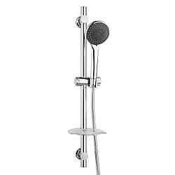 Штанга душевая L-68 см, мыльница, душ ручной 3 режима, шланг, блистер