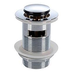 KOLO клапан сливной push–open, для умывальников с переливом, хром (пол.)