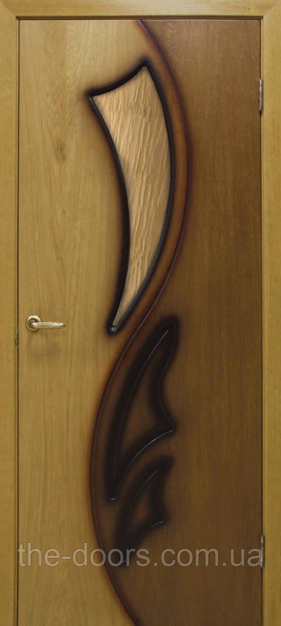 Двери Omis Лилия 2 СС бронза натуральный шпон