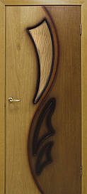Двері Omis Лілія 2 СС бронза натуральний шпон