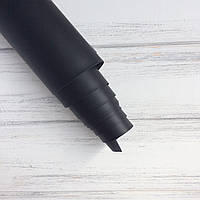 Шкірзамінник палітурний - матовий - чорний VH073 - виробник Італія - 24х70