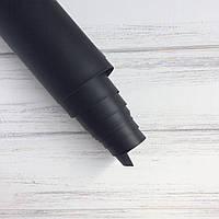 Шкірзамінник палітурний - матовий - чорний VH073 - виробник Італія - 24,5х140 (сліди тиснення)