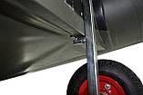 Транцевые колеса на струбцинах КТ500 str(260) Poly для лодок из ПВХ, фото 7