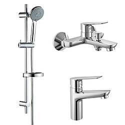KIT 300901 набор смесителей (3 в 1), смеситель для умывальника, смеситель для ванны, душевой гарнитур