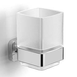 TEO стакан матовое стекло, крепление к стене, хром