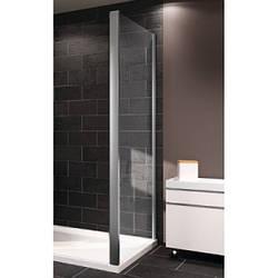 X1 стенка боковая 100см, профиль глянцевый хром, стекло прозрачное