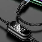 Кабель USB (тато) = Lightning (тато) 1.2 м Usams US-SJ423 Timing Digital Dispaly U48 Black, фото 4