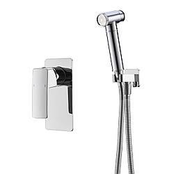 GRAFIKY набор (смеситель скрытого монтажа с гигиеническим душем), хром