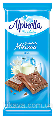 Молочный шоколад Alpinella  Mleczna , 90 гр, фото 2