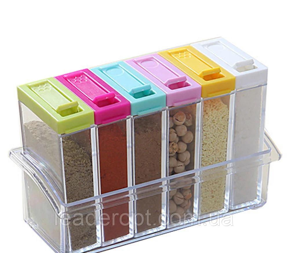 ОПТ Набор контейнеров для специй Seasoning six-piece set на подставке