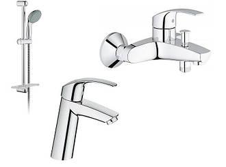 EUROSMART набор смесителей для ванны (23324001+33300002+27926001)
