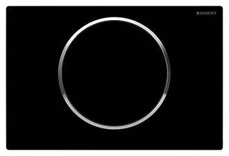 Смывная клавиша SIGMA10 пластик черный/хром глянц./черный